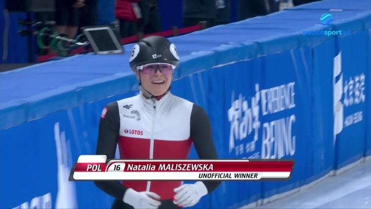 PŚ w short tracku: Natalia Maliszewska wygrała w Pekinie! Wyścig z udziałem Polki