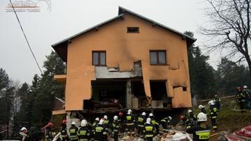 Silny wybuch gazu w Olszance. Dwie osoby zostały ranne