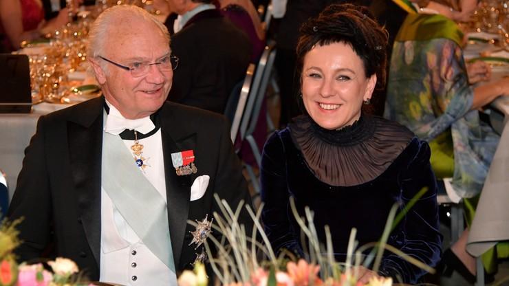 Bankiet Noblowski. Tokarczuk obok króla Szwecji