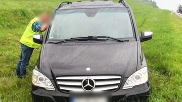 21-latek ukradł auto w Niemczech. Wpadł w ręce polskiej policji, bo... ugrzązł na autostradzie