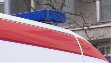 Wypadek taksówki w Krakowie. Kierowca zginął, pasażer ranny