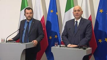 """""""Przyjmowaniu następnych imigrantów to ryzyko typu kamikadze"""". Salvini po spotkaniu z Brudzińskim"""