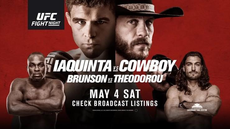 UFC Fight Night: Iaquinta - Cowboy. Transmisja w Polsacie Sport Extra