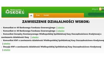Sąd ogłosił upadłość Wielkopolskiej SKOK