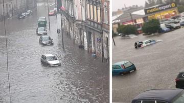 Ulice, jak rzeki, zalany radiowóz, szpital i ofiara śmiertelna. Nawałnice nad Polską