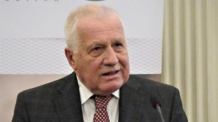 Czechy. Były prezydent Vaclav Klaus ma koronawirusa. Sprzeciwiał się noszeniu maseczek