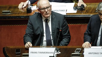 """""""Fundamentalne zagrożenie dla państwa prawa"""" - Timmermans o Polsce"""