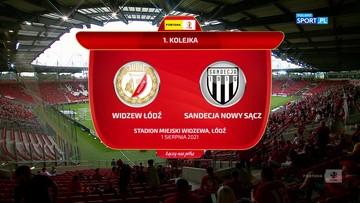 Fortuna 1 Liga: Widzew Łódź - Sandecja Nowy Sącz 3:0. Skrót meczu
