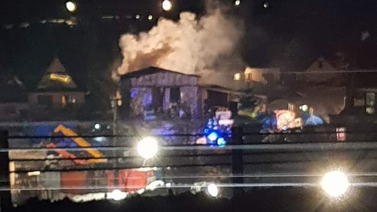 Pożar przy Zakopiance. Spłonęła hala magazynowa