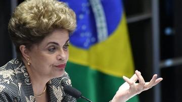 Brazylia: senat przegłosował odwołanie prezydent Dilmy Rousseff