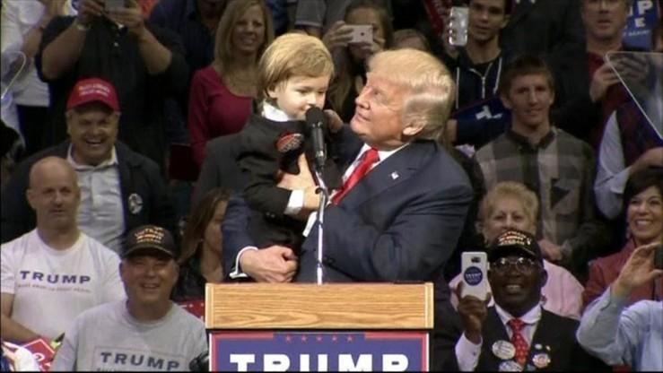 Chłopiec skradł show Donalda Trumpa