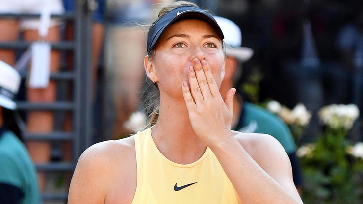 WTA w Rzymie: Szarapowa w półfinale, porażka Wozniacki