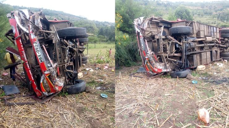 Kenia: autobus wypadł z drogi i stoczył się ze skarpy. Co najmniej 40 pasażerów nie żyje