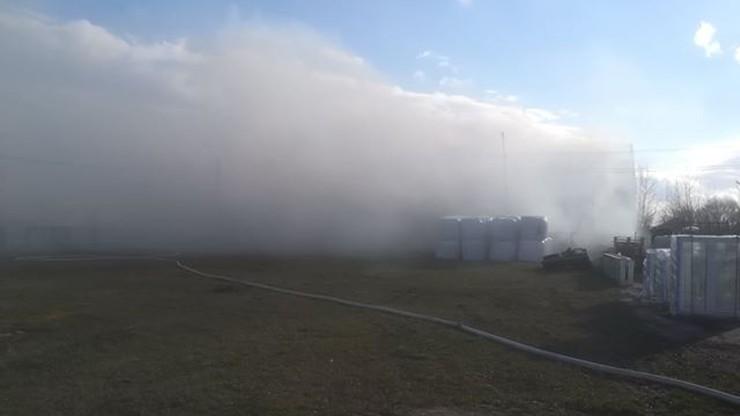 Pożar hali w Kujawsko-Pomorskiem