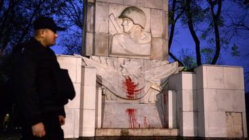 Pomnik Armii Czerwonej oblany farbą. Rosyjskie MSZ oburzone