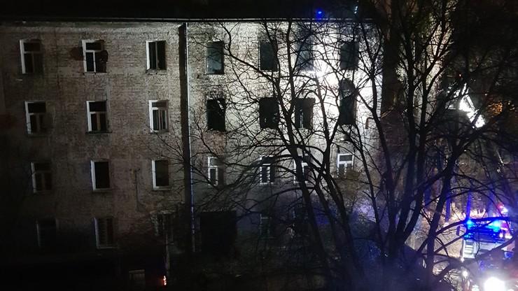 Ponowny pożar kamienicy przy ul. Siedleckiej w Warszawie