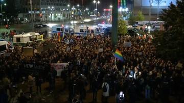 Po sukcesie wyborczym skrajnej prawicy Niemcy wyszli na ulice Berlina. Doszło do przepychanek z Policją