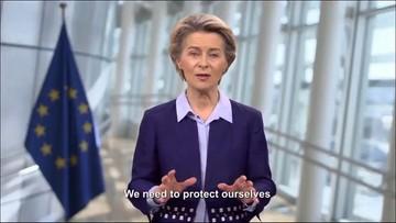 """""""Uczyńmy rok 2021 czasem odbudowy i nadziei"""". Von der Leyen o początku szczepień w UE"""