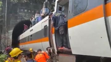Katastrofa kolejowa na Tajwanie. Niemal 50 ofiar