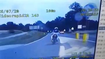 Pościg zakończony blokadą drogi. Motocyklista był nieletni