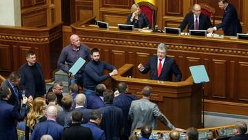Parlament Ukrainy zatwierdził dekret prezydenta o wprowadzeniu stanu wojennego