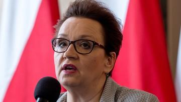 Anna Zalewska: w ciągu dwóch lat spodziewane dodatkowe 10 tys. etatów dla nauczycieli