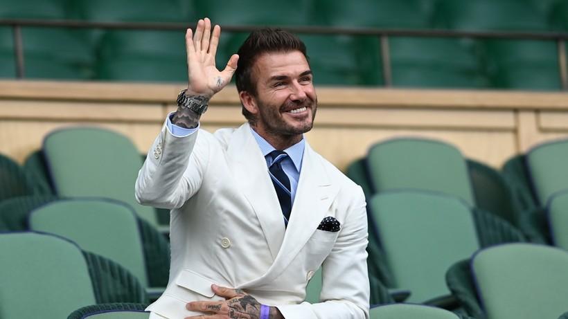 Beckham oglądał mecz Hurkacza i... zrobił sobie zdjęcie z polskim kibicem