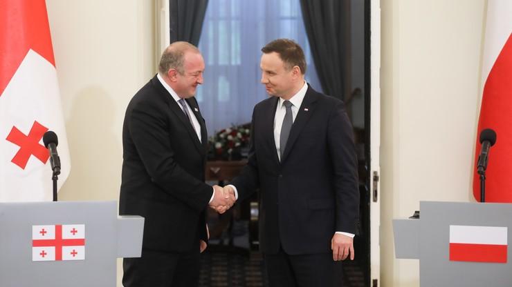 Duda po spotkaniu z prezydentem Gruzji: cała UE powinna gwarantować krajom Partnerstwa Wschodniego perspektywę członkostwa