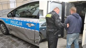 Z Gniezna do Poznania, taranując radiowozy. Policyjny pościg za kierowcą mercedesa