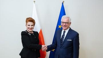 """Ambasador Mosbacher u szefa MSZ. Jednym z tematów """"wsparcie USA dla inicjatywy Trójmorza"""""""