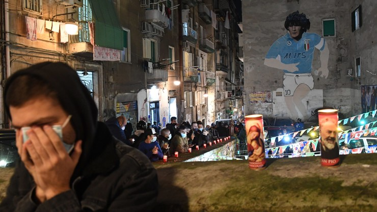 Szok w Neapolu po śmierci Diego Maradony