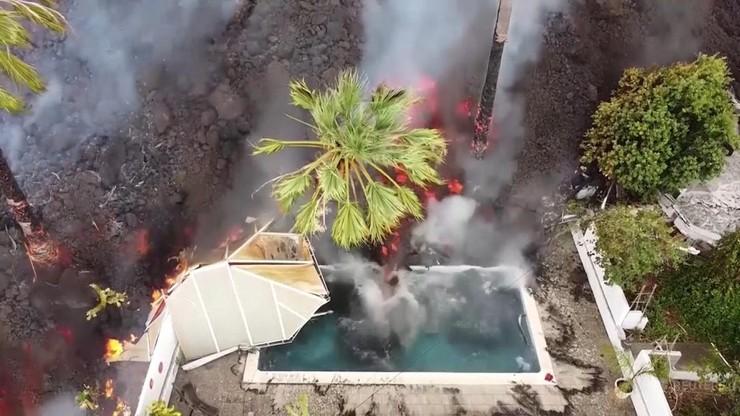 La Palma. Pierwszy wybuch wulkanu od 50 lat. Dziesiątki domów zniszczonych
