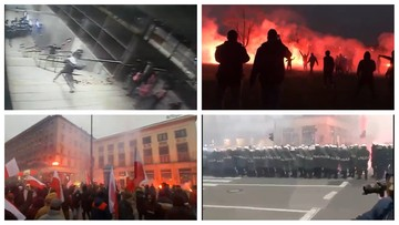 """""""Walczyli w ogniu"""". Policja publikuje nagrania z Marszu Niepodległości"""