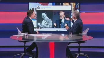 Senator udostępnił zdjęcie zestawiające Tuska z Hitlerem. Karczewski: to poniżej krytyki