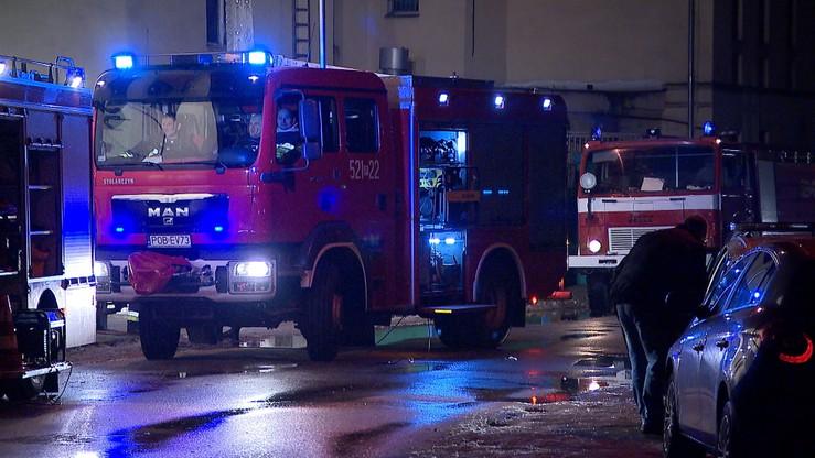 Pożar w fabryce mebli w Barczewie