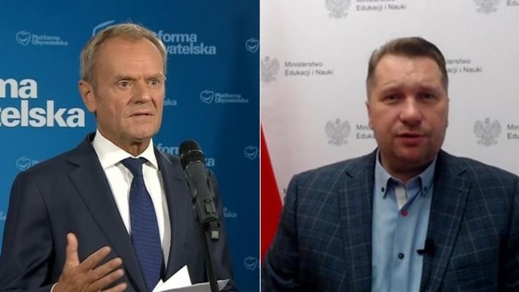 Czarnek: Tusk jest współodpowiedzialny za potężny kryzys migracyjny