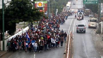 Karawana migrantów z Hondurasu zmierza w kierunku granicy USA