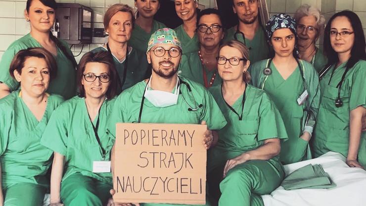 Lekarze, pielęgniarki, rolnicy, pracownicy LOT-u. Zobacz, kto jeszcze  wspiera strajk nauczycieli