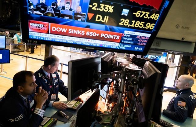 Spadki na amerykańskiej giełdzie