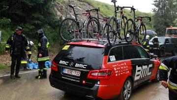 Tour de Pologne: odwołali ekstremalny etap w ulewie pod Tatrami