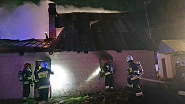 Pożar domu na Podlasiu. W środku dwa zwęglone ciała