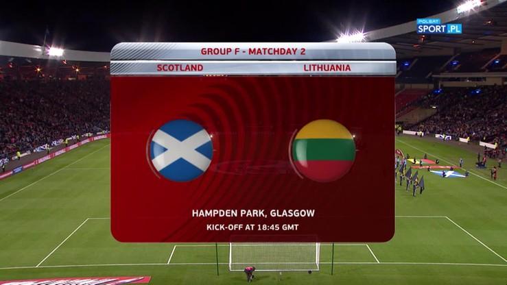 2016-10-08 Szkocja - Litwa 1:1. Skrót meczu