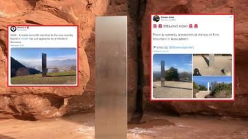 Metalowy monolit pojawia się i znika. Po wizycie w Rumunii wrócił do USA