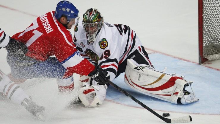 """NHL: """"Czarne Jastrzębie"""" przerwały serię ośmiu wygranych """"Pingwinów"""""""
