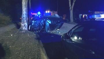 Pijany wiózł autem 7-letniego syna i spowodował wypadek. Dziecko zabrał śmigłowiec LPR
