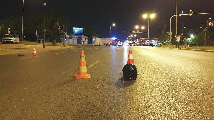 Łódź. Zderzenie auta osobowego z motocyklem. Nie żyją dwie osoby