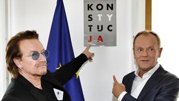Bono: będę rozmawiać z Tuskiem o polskiej i europejskiej polityce