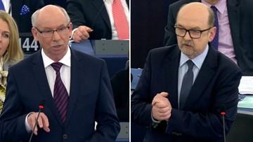 """Lewandowski: """"kroczący zamach stanu"""", Legutko: """"znowu robicie Orwellowski spektakl"""". Debata o Polsce w PE"""