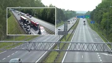 Ponad dobę sprzątano trasę A6 pod Szczecinem po tragicznym karambolu. Droga jest już odblokowana