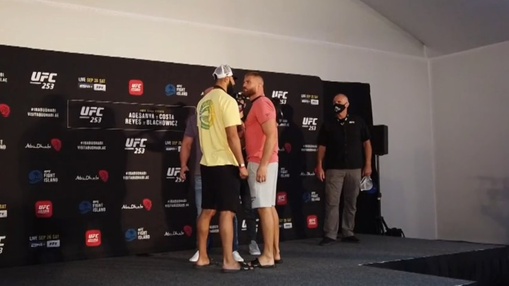 UFC 253: Błachowicz i Reyes na gorąco po ważeniu i face-offie (WIDEO)
